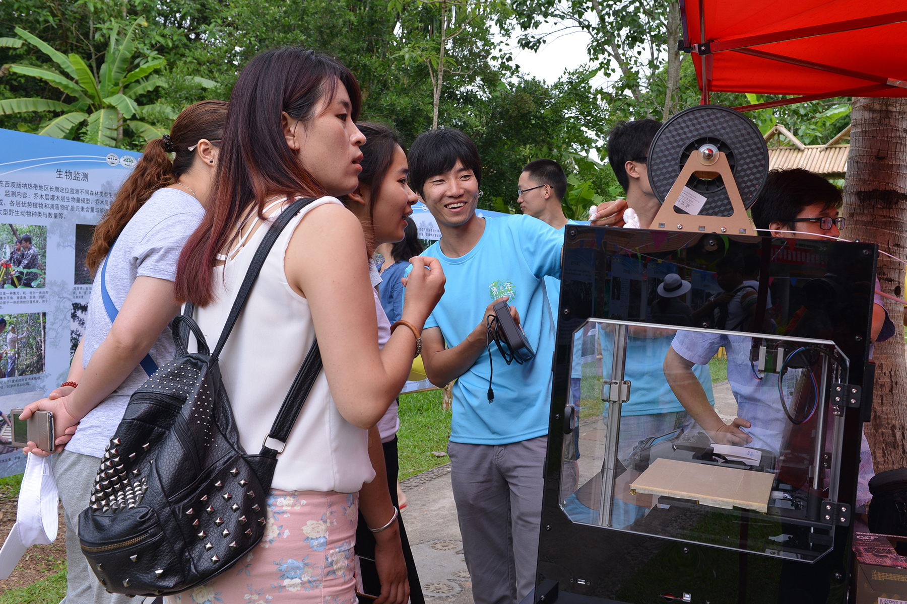 科普专家介绍3D打印机